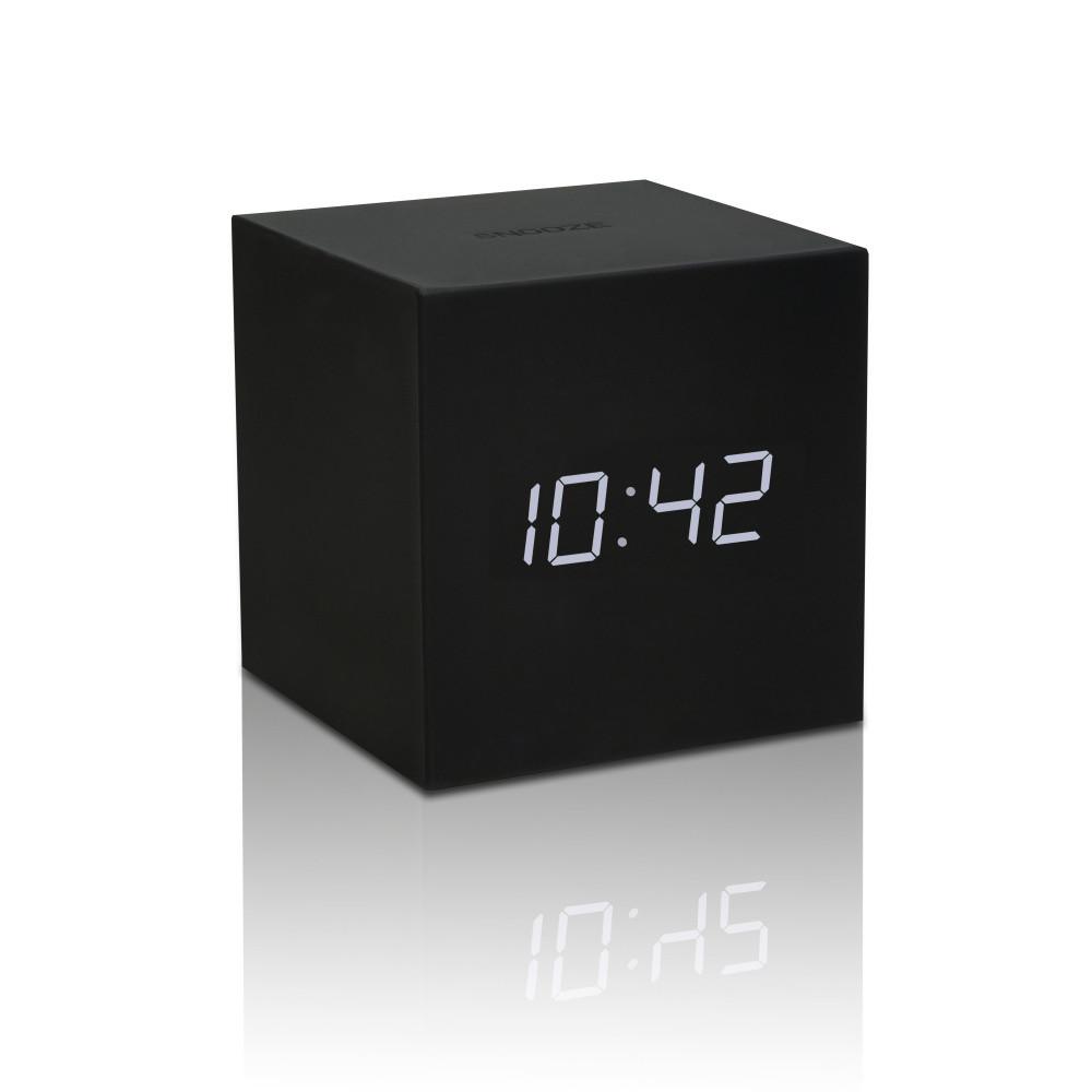 Čierny LED budík Gingko Gravitry Cube