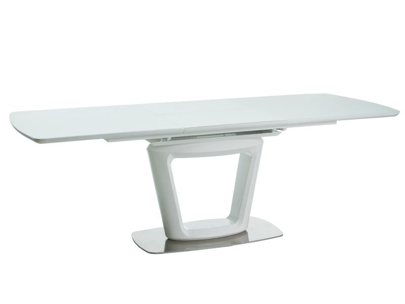 KLAUDIO rozkladací jedálenský stôl, biely matný