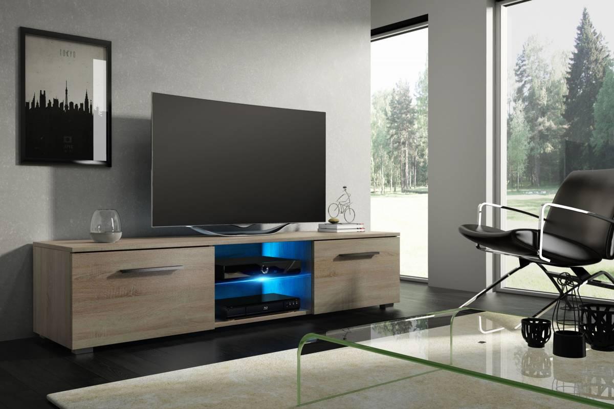 TV stolík/skrinka Moon (sonoma svetlá)