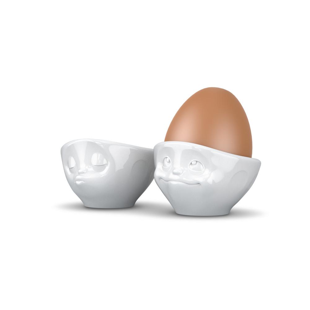 Stojany na vajíčka zamilovaný pár, biely
