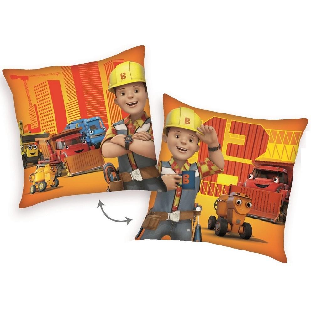 Herding Vankúšik Bob staviteľ a pomocníci oranžová, 40 x 40 cm