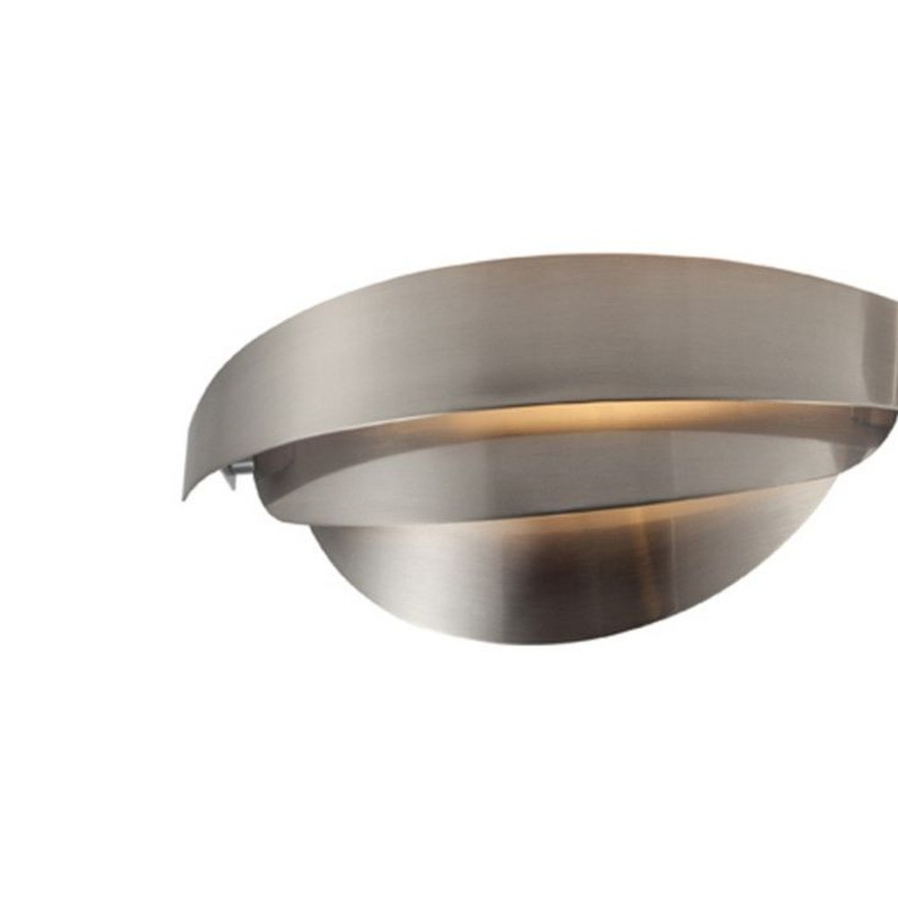 Sivé nástenné svietidlo Mask, 30 x 9 cm