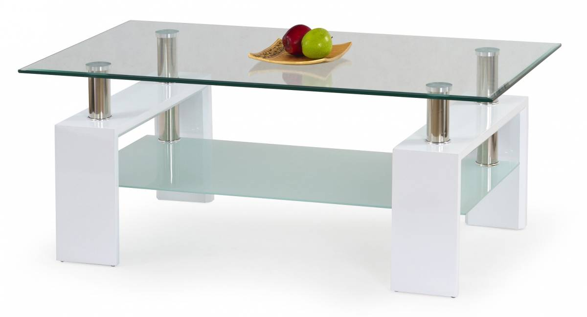 Konferenčný stolík Diana biela