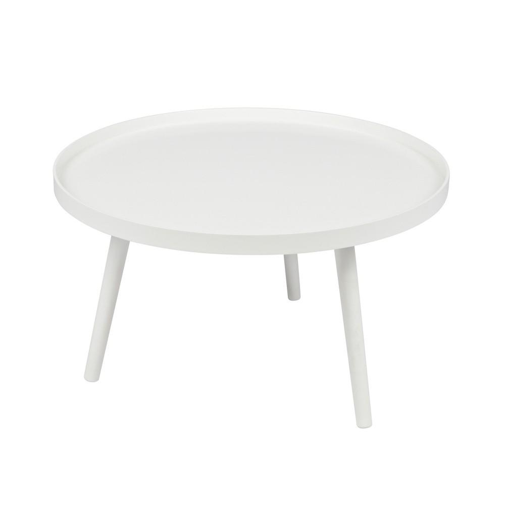 Biely konferenčný stolík De Eekhoorn Mesa, Ø 60cm