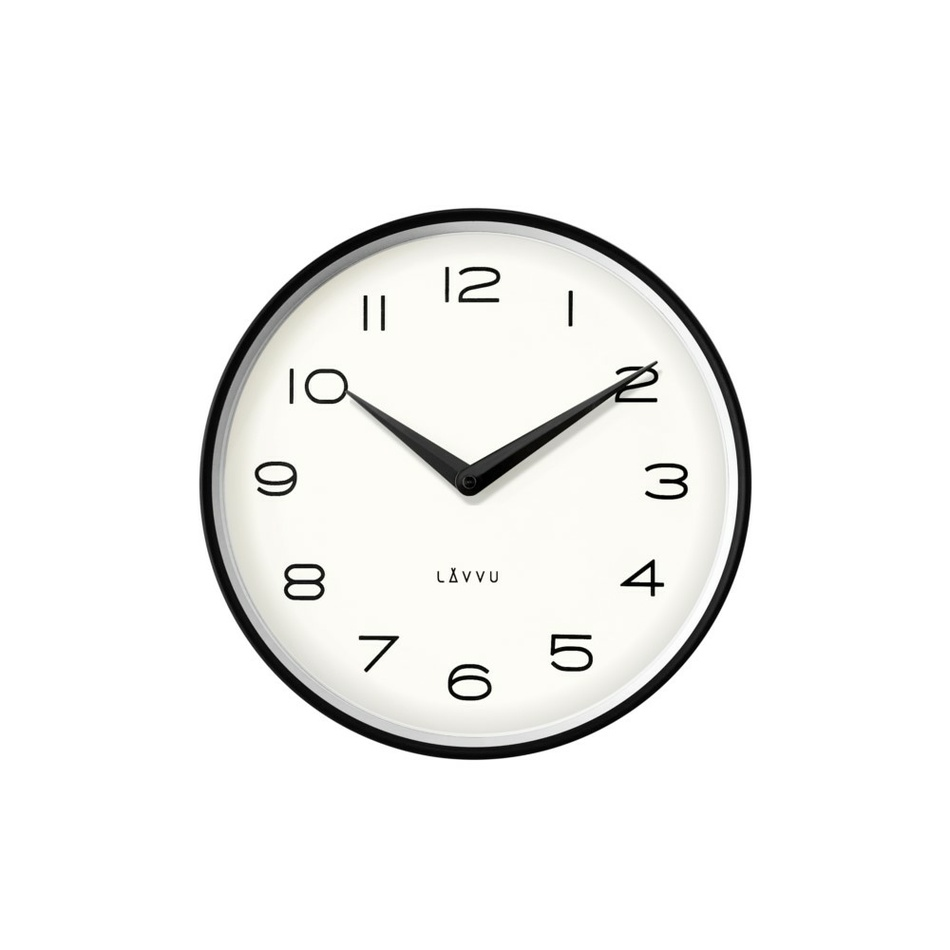 Lavvu LCT1210 Kovové hodiny Living, čierna