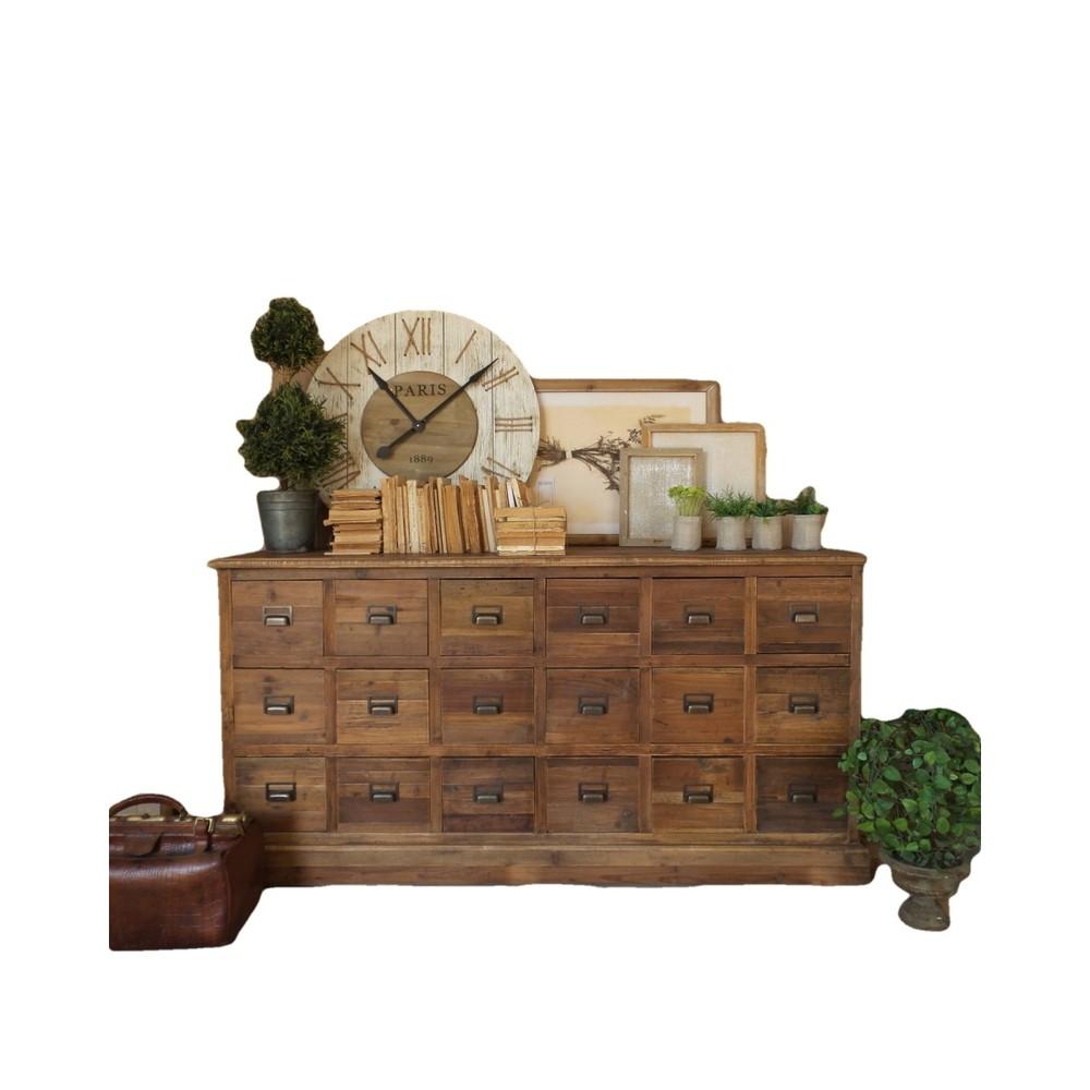 Komoda so zásuvkami z borovicového dreva Orchidea Milano Vintage Natural