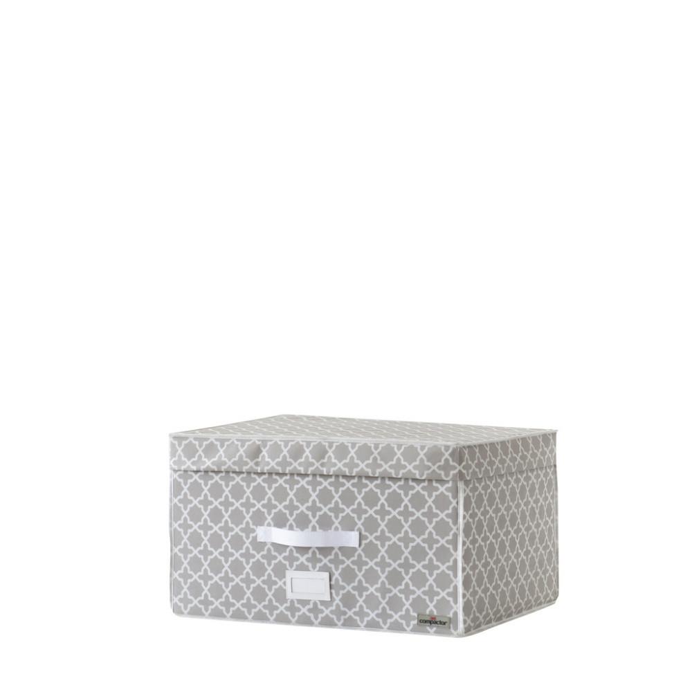 Béžový úložný box s vákuovým obalom Compactor, objem 150 l