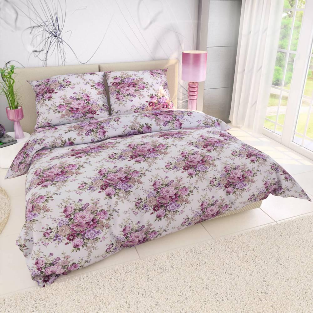 Kvalitex Krepové obliečky Ester ružová, 220 x 200 cm, 2 ks 70 x 90 cm