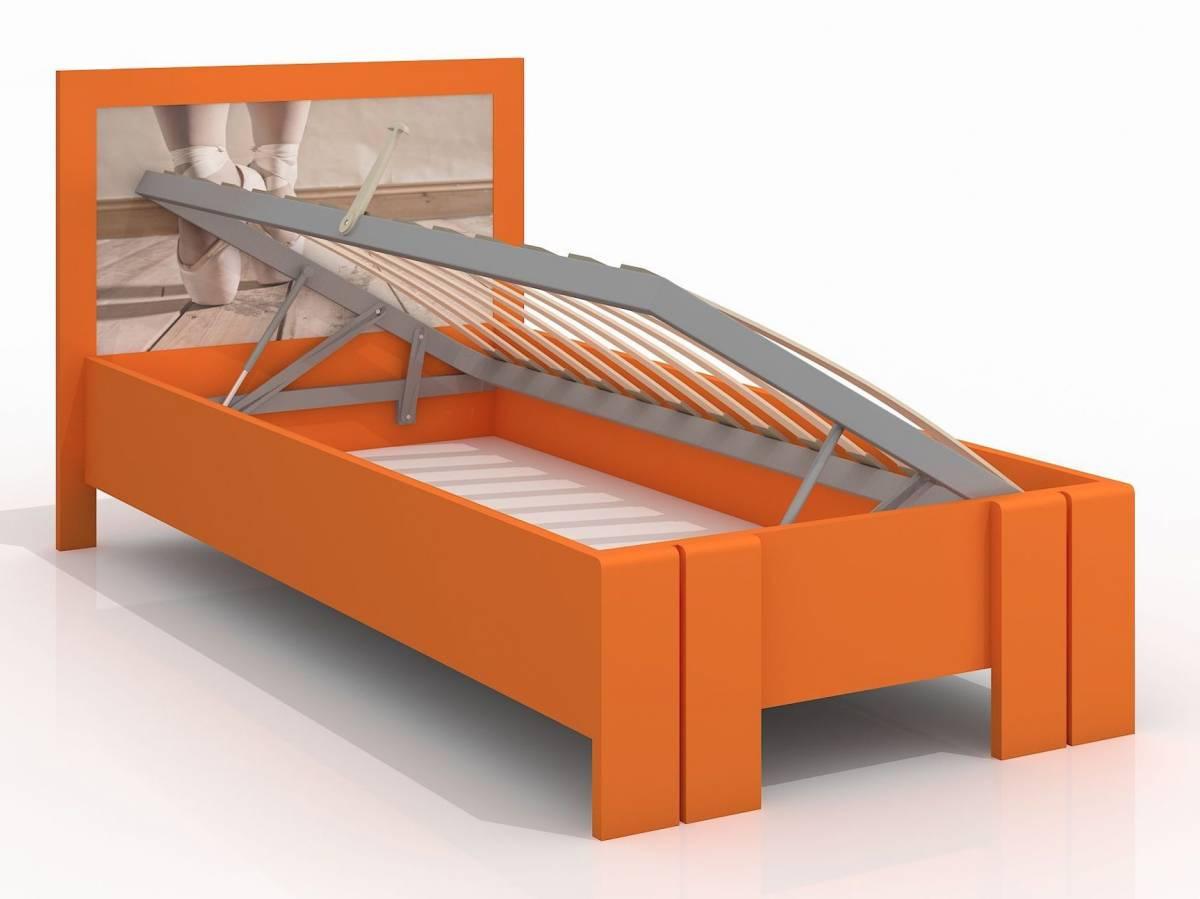 Jednolôžková posteľ 120 cm Naturlig Kids Manglerud High BC (borovica) (s roštom)