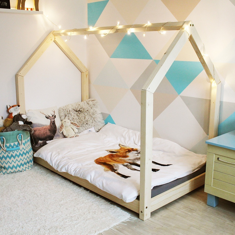 Detská posteľ z borovicového dreva s vyvýšenými nohami Benlemi Tery,120x200cm