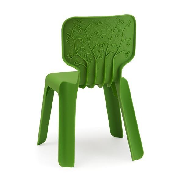Detská zelená rozložiteľná stolička Magis Alma