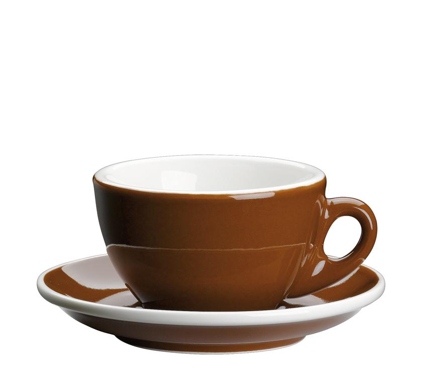 Šálka na cappuccino s podšálkou Roma hnedá 100 ml