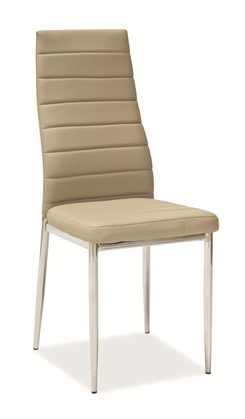 Jedálenská stolička VERME, béžová/chróm