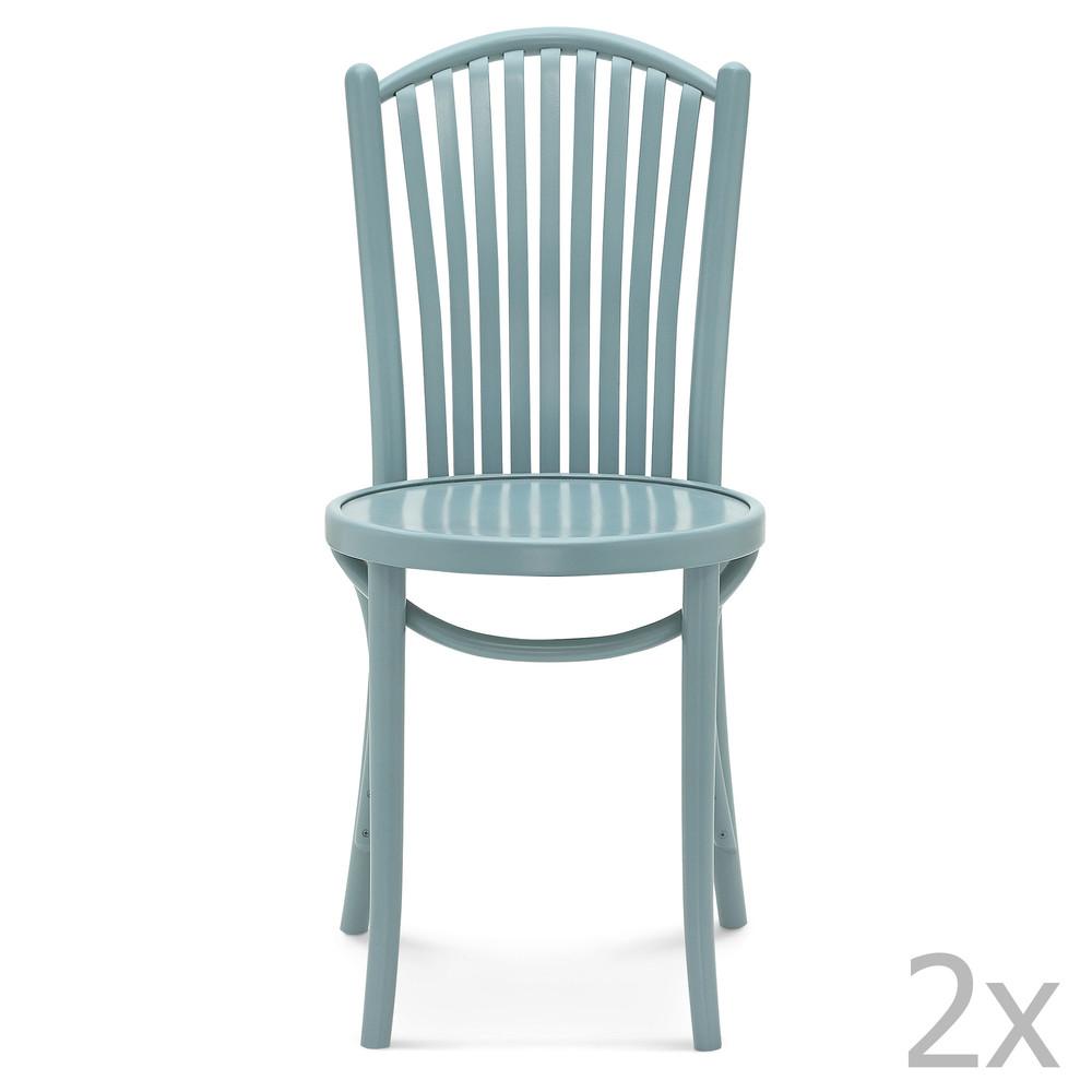 Sada 2 modrých drevených stoličiek Fameg Jorgen