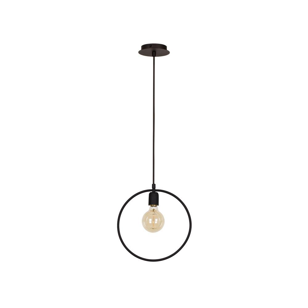 Čierne stropné svietidlo Round