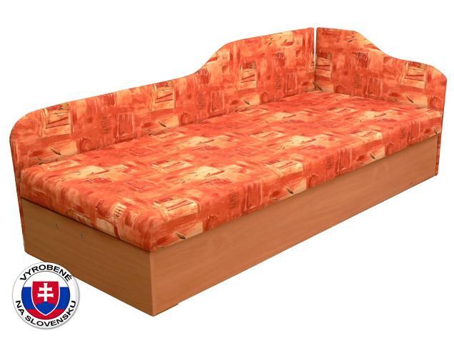 Jednolôžková posteľ (váľanda) 80 cm Edo 4/2 (s pružinovým matracom) (P)