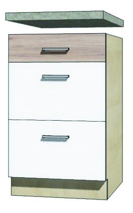 EKO - 9D dolná skrinka so zásuvkami 50cm
