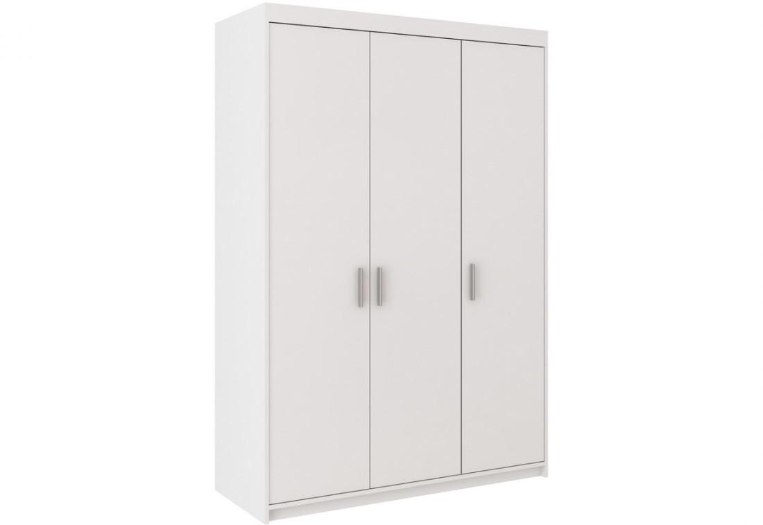 Šatníková skriňa ELLENA 3D, 190x133x53 cm, biela
