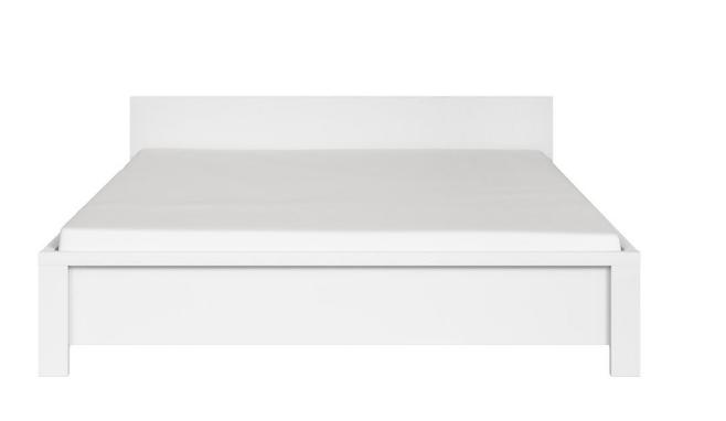 Manželská posteľ Kaspian LOZ/160   Farba: Biela / biela mat