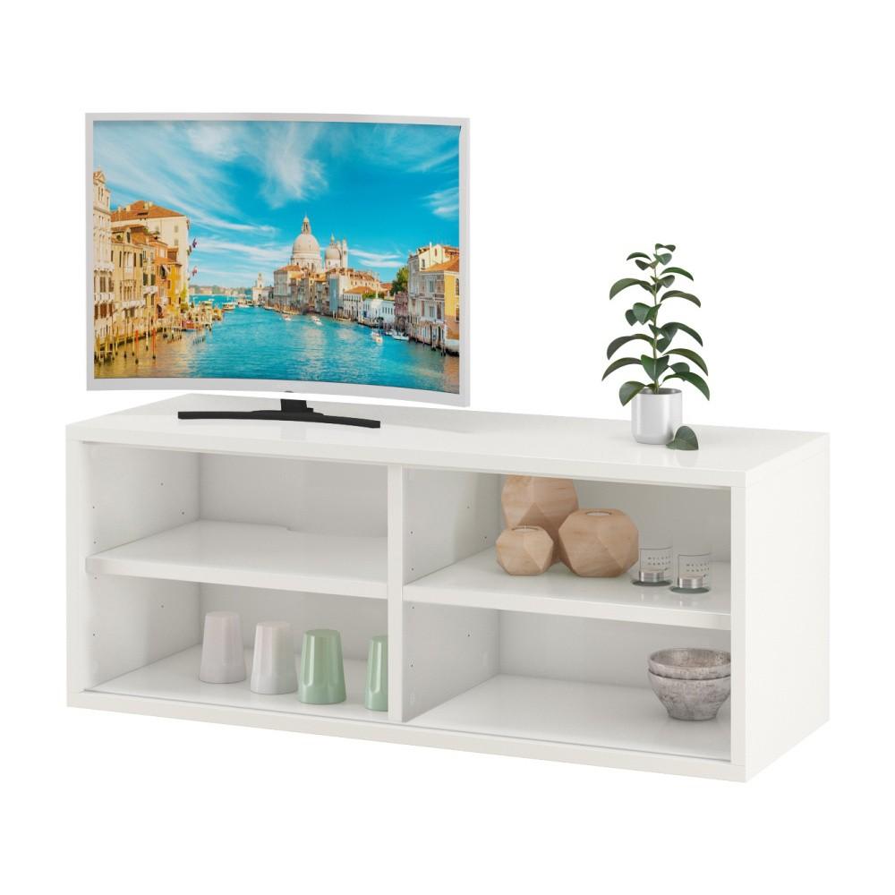 Biely TV stolík s 2 poličkami Støraa Bertil