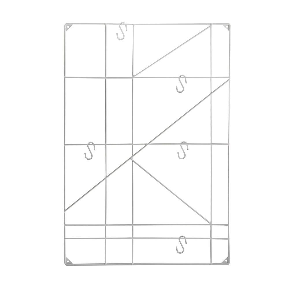 Biely nástenný vešiak Versa Geometric