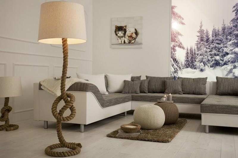 Stojaca lampa SEVER SEAN 160 cm - krémová