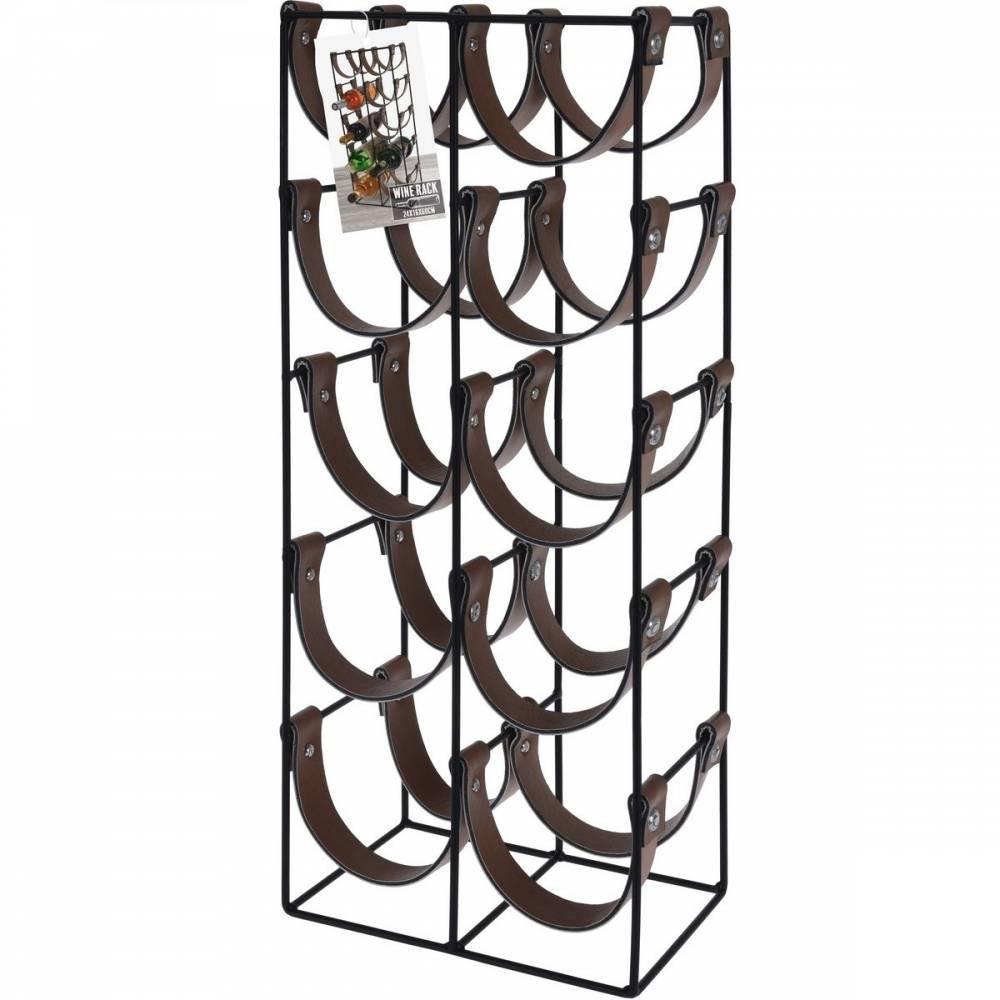 Kovový stojan na 10 fliaš 24 x 16 x 60 cm