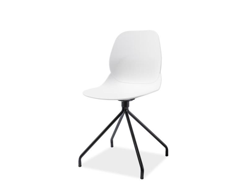 OMEGA jedálenská stolička, čierna/biela