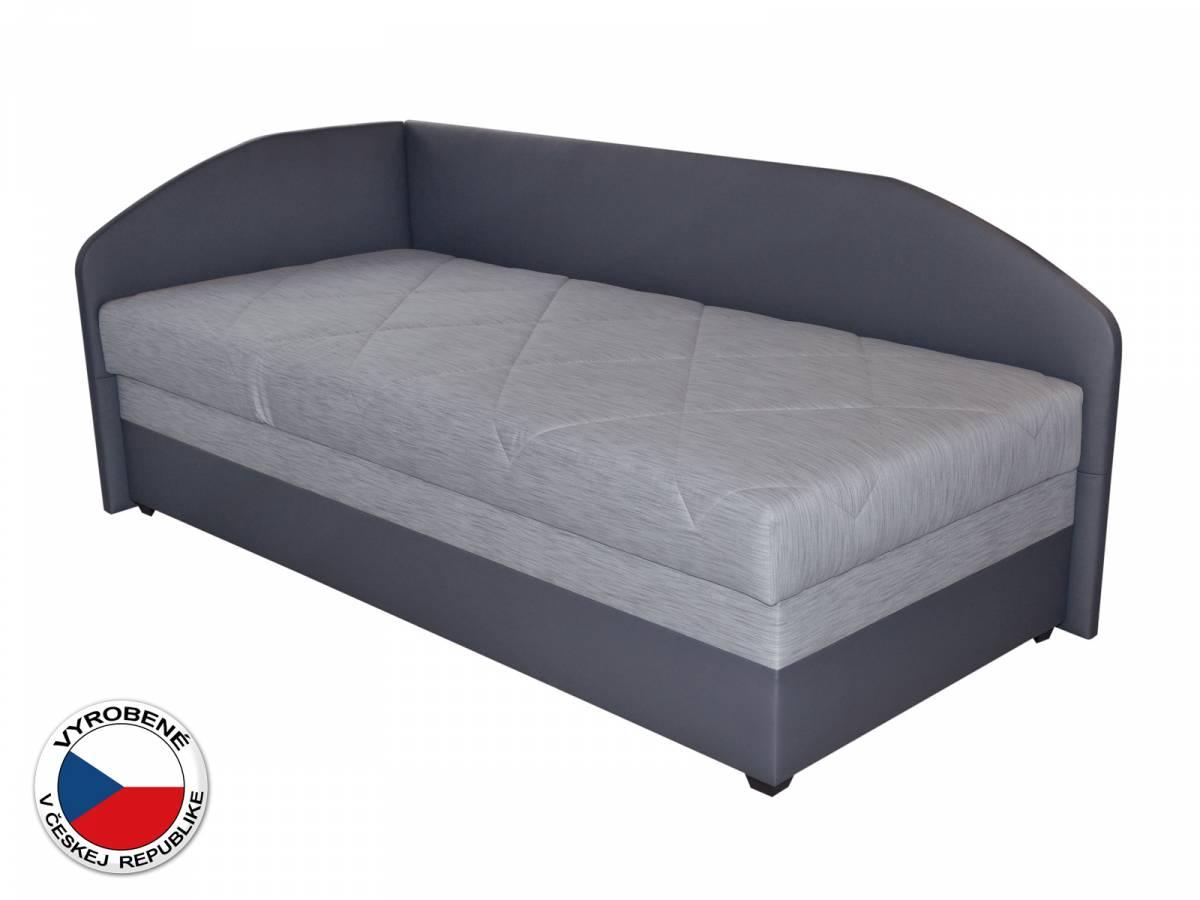 Jednolôžková posteľ (váľanda) 90 cm Blanár Turi (svetlosivá + tmavosivá) (s roštom a matracom) (L)