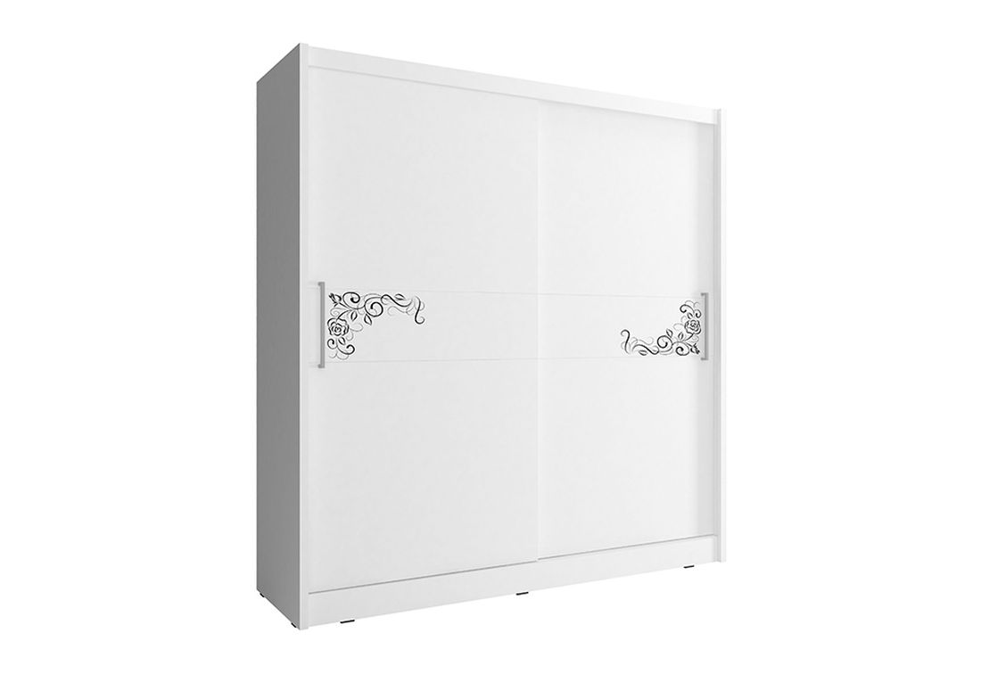 Šatníková skriňa WHITNEY 5 B, 200x214x62 cm, biely