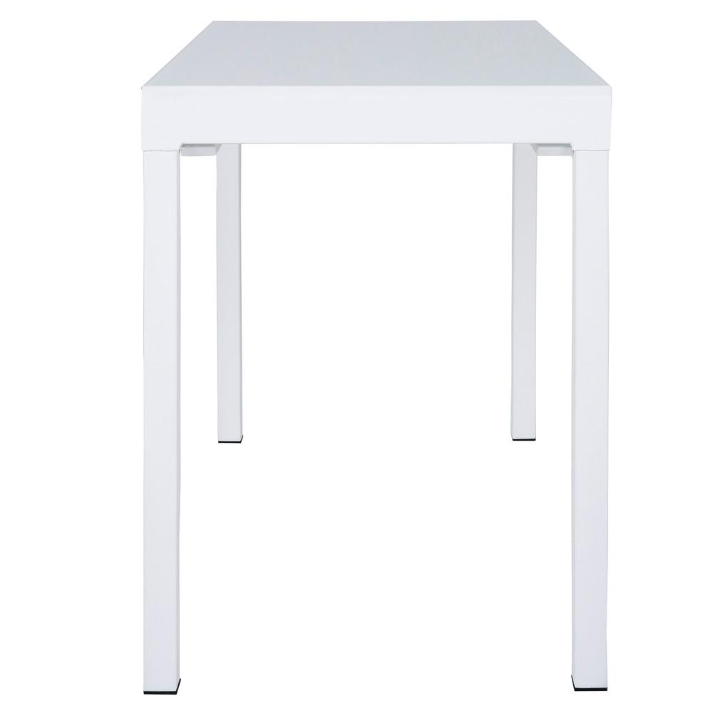 Biely jedálenský rozkladací stôl Canett Lissabon, veľký
