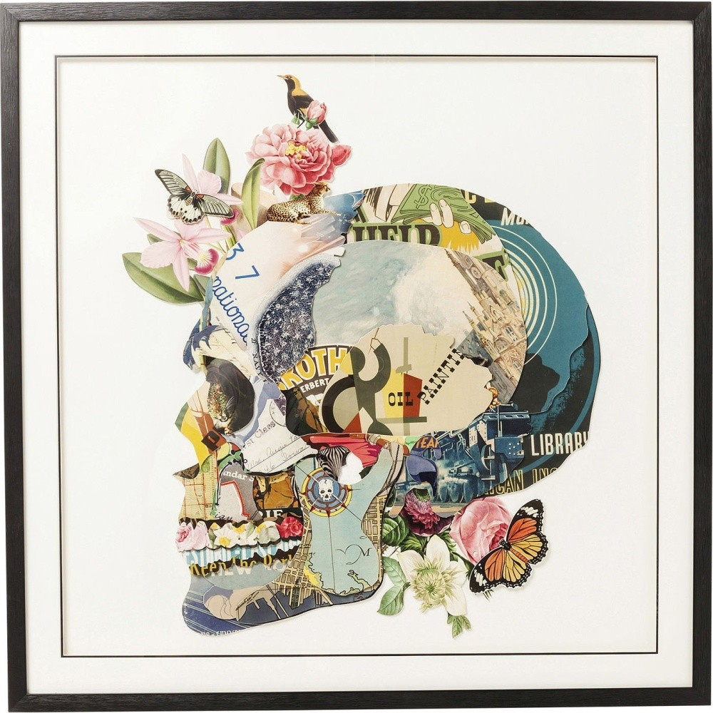 Obraz Kare Design Art Skull, 100 x 100 cm