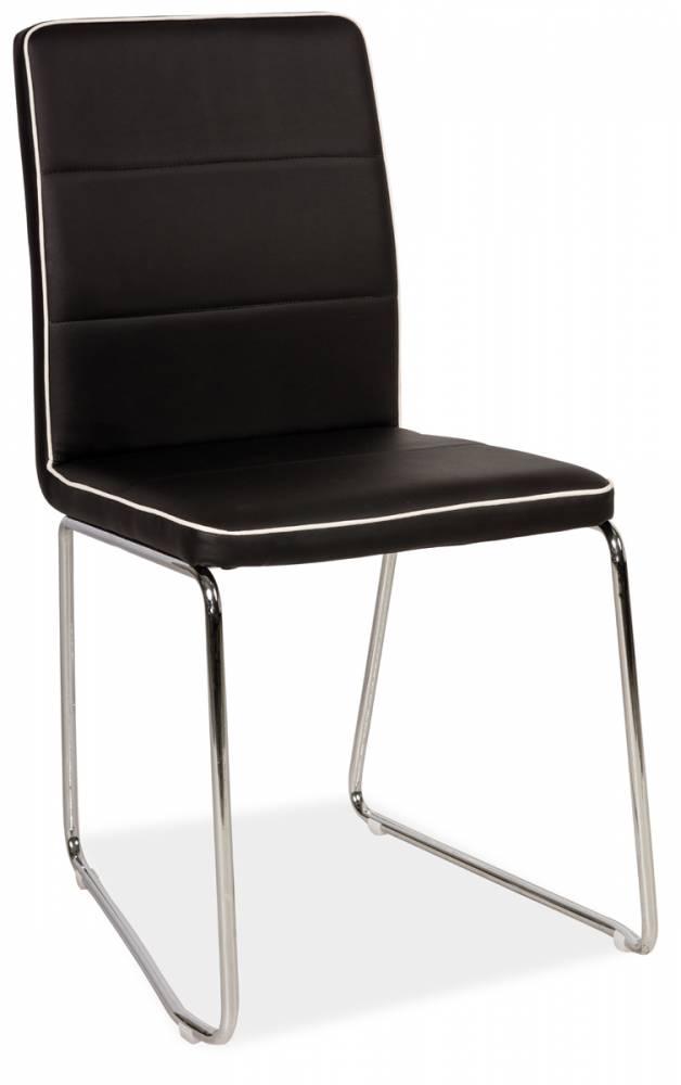 Jedálenská stolička HK-210, čierna