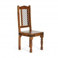 Furniture nábytok  Masívna stolička s kovaním z Palisanderu  Golbú  45x45x105 cm