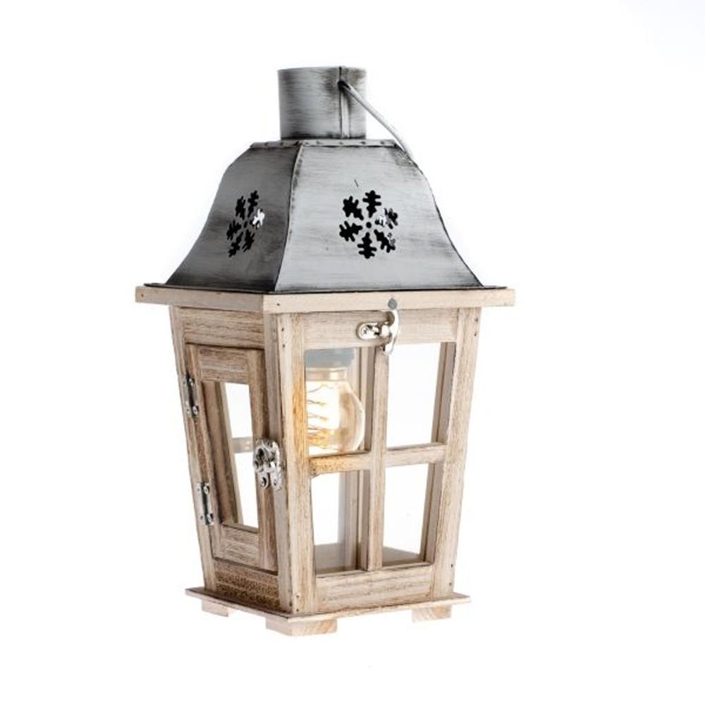 Drevený lampáš Dakls Snowflake