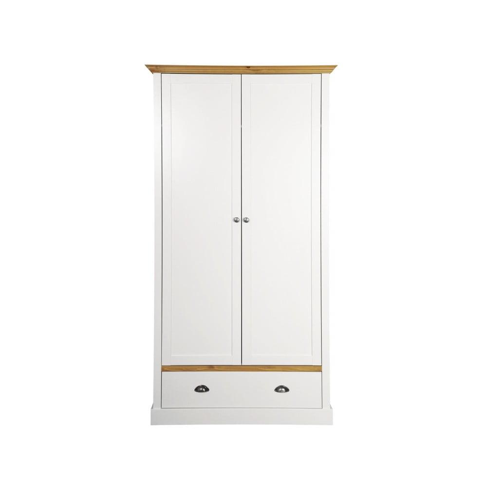 Biela šatníková skriňa Steens Sandringham, 192 × 104 cm