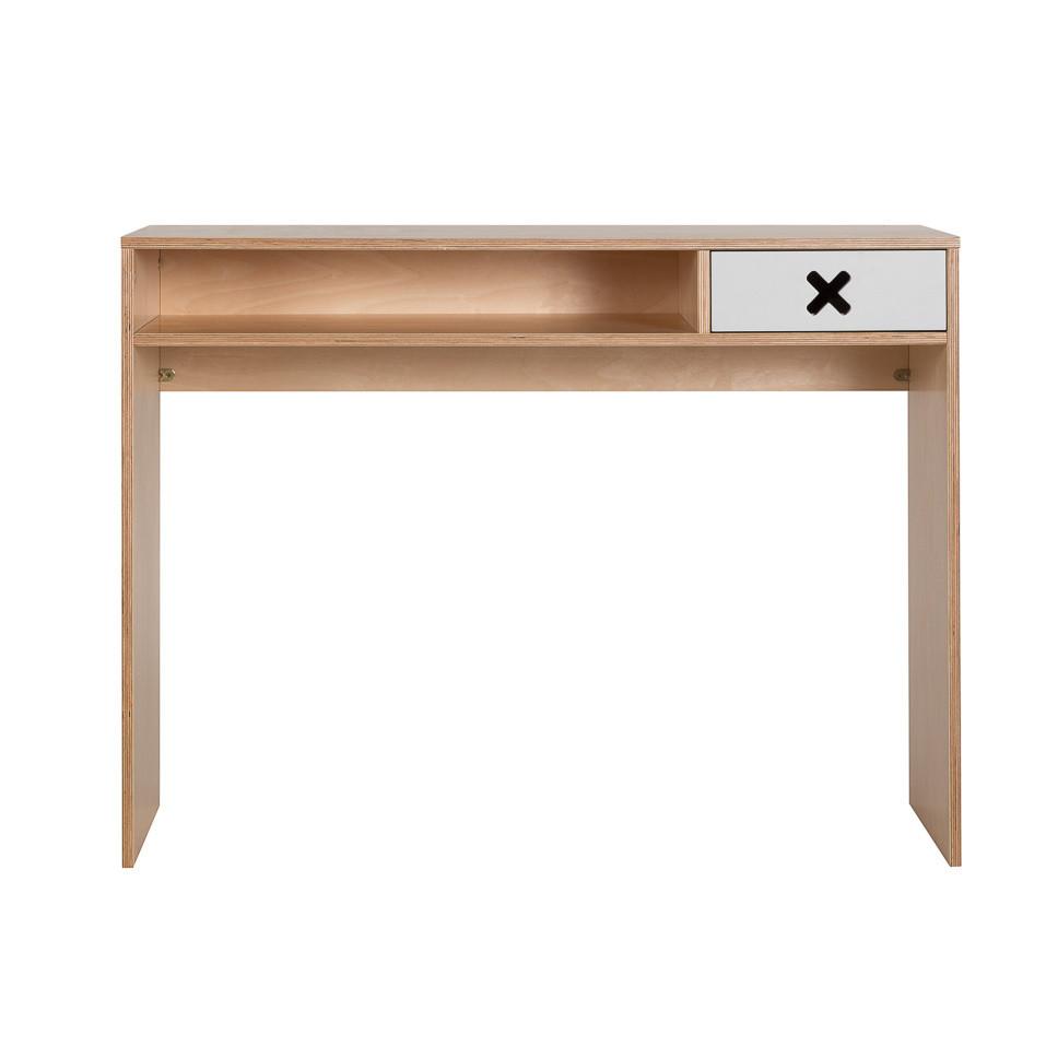 Sivý pracovný stôl s jednou zásuvkou Durbas Style