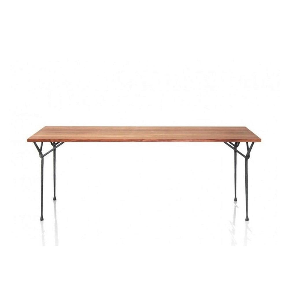 Jedálenský stôl s deskou z orechového dreva Magis Officina, dĺžka 200 cm