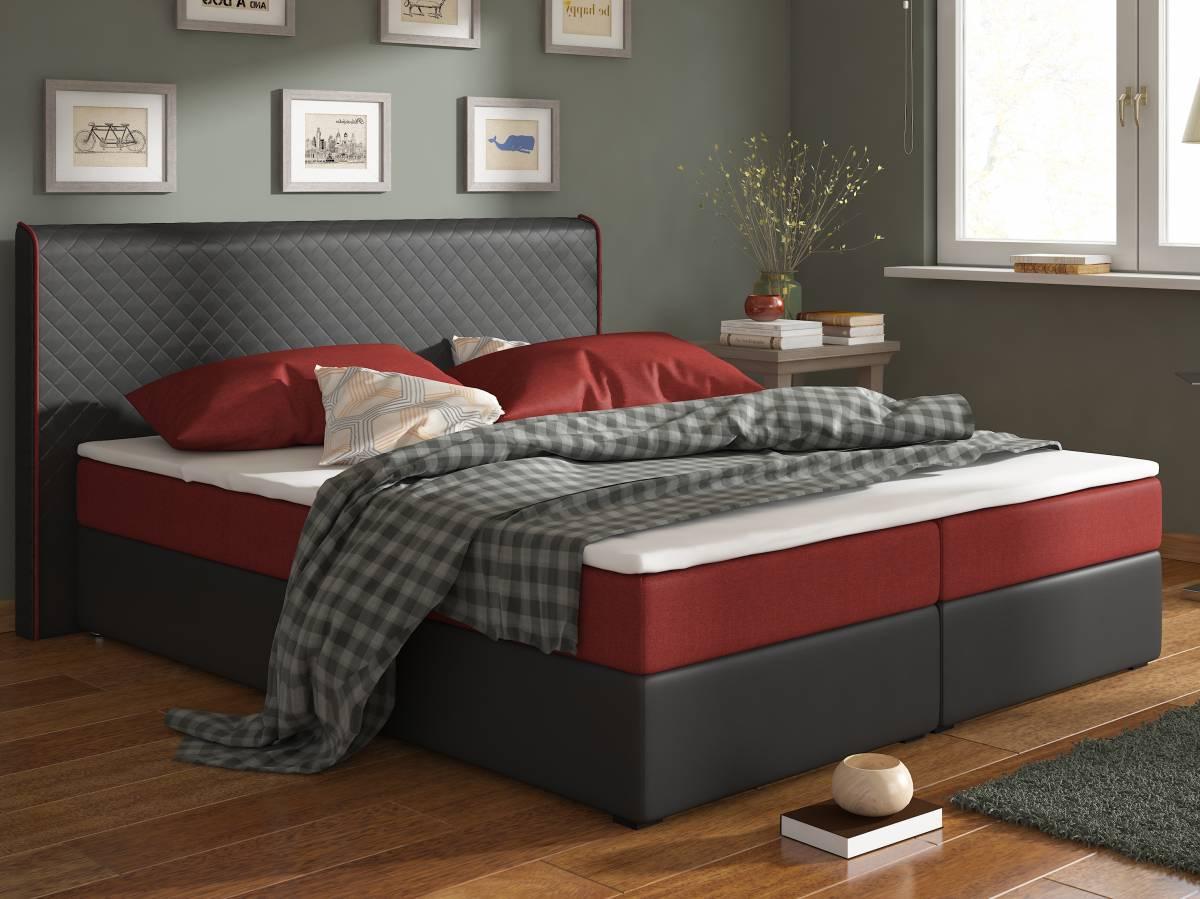 Manželská posteľ Boxspring 160 cm Bergamo (s matracmi)