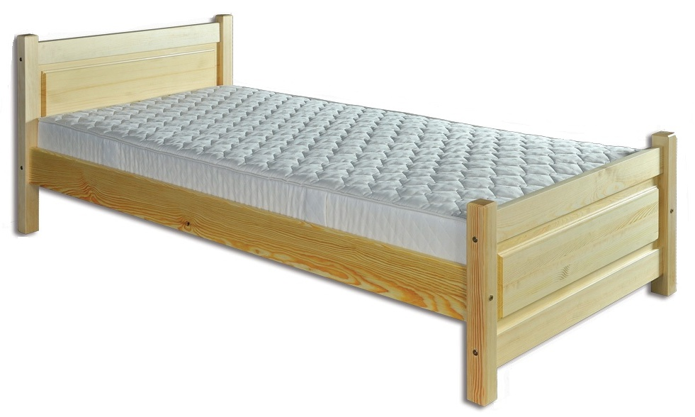 Jednolôžková posteľ 90 cm LK 129 (masív)