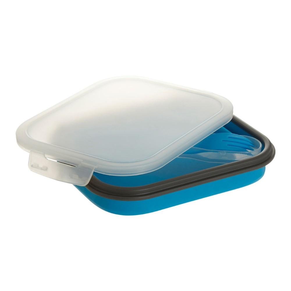 Set modrého obedového boxu a príboru Premier Housewares, 19×26 cm