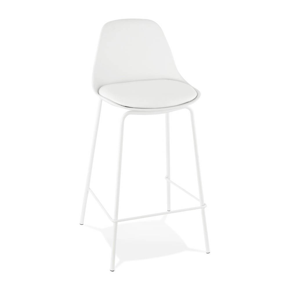 Biela barová stolička Kokoon Escal Mini