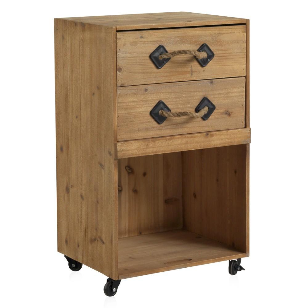 Nočný stolík na kolieskach s 2 zásuvkami Geese Talinn