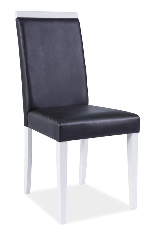 Jedálenská stolička KD-77, biela/čierna