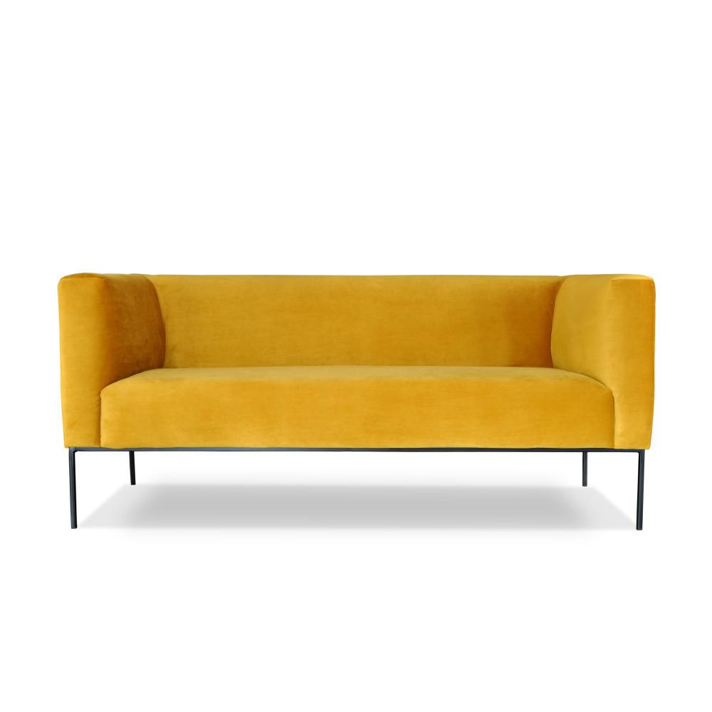Žltá dvojmiestna pohovka Windsor & Co. Sofas Neptune