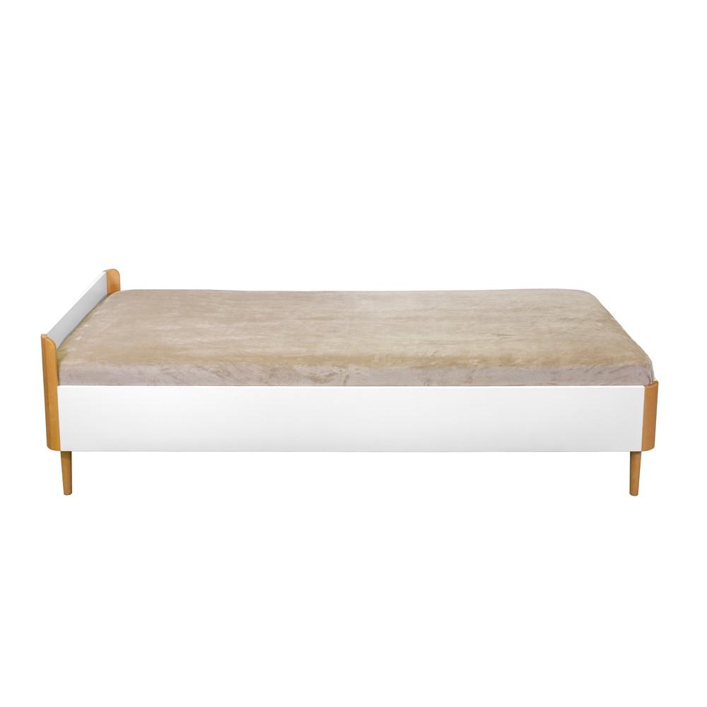 Biela jednolôžková posteľ Wermo Fun, 200 x 90 cm