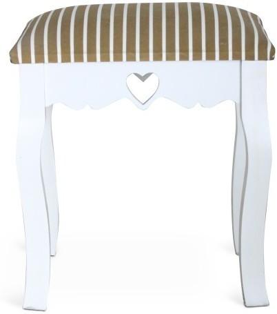 Elegantná taburetka, biela/bézový pásik, WAGNER 1