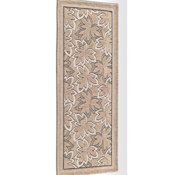 Béžový vysokoodolný kuchynský koberec Webtapetti Maple Tortora, 55 x 280 cm