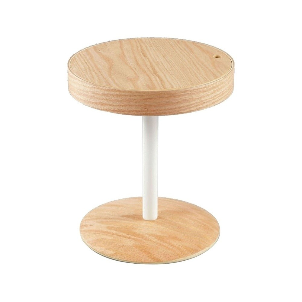 Hnedý odkladací stolík s úložným priestorom Design Twist Lampang