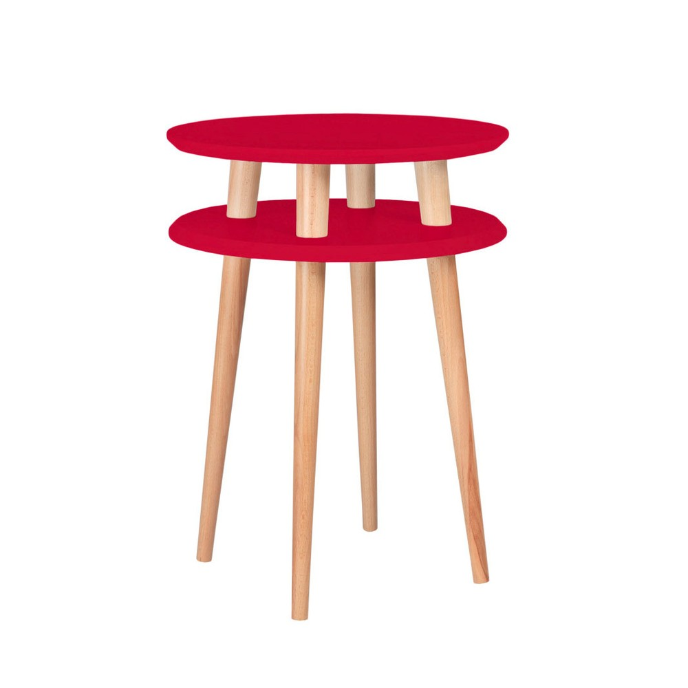 Červený odkladací stolík Ragaba Ufo, ⌀45 cm